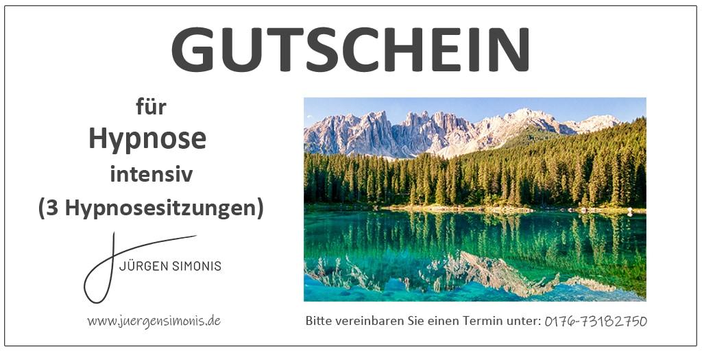 Hypnose Gutschein - intensiv - 3 Sitzungen